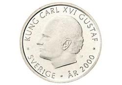 Zweden 2000 1 Krona Unc Millenium