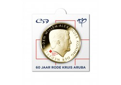 Aruba 2017 5 Florin 60 jaar Rode Kruis In Munthouder