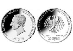 20 Euro Duitsland 2017 F Johann Joachim Winckelmann Unc