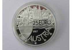 Penning 1997, 25 Euro van Oostenrijk Zilver