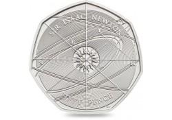 Km ??? Groot Britannië 2017 50 Pence  Unc Sir Isaac Newton