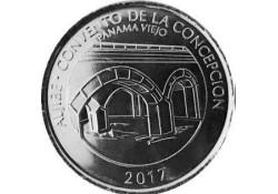 Panama 2017 ½ Balboa Unc Aljibe Bridge