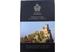 Proofset San Marino 2017 inclusief 2 x 2 euro comm.