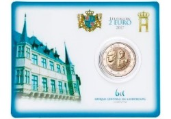2 Euro Luxemburg 2017 Willlem III Bu in coincard