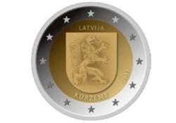 2 Euro Letland 2017 Kurzeme Unc Voorverkoop*