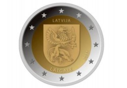 2 Euro Letland 2017 Latgale Unc Voorverkoop*