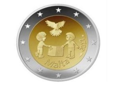 2 Euro Malta 2017 Vrede met Frans muntmeesterteken Unc Voorverkoop*