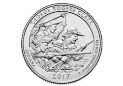 KM ??? U.S.A ¼ Dollar George Rogers Clark 2017 D UNC Voorverkoop*