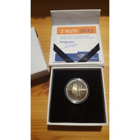 2 Euro Nederland 2001 Proof ZONDER RANDSCHRIFT