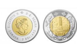 Km+??? Canada 2 Dollar 2017 Unc Vimy Battle