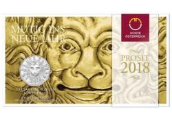 5 Euro Oostenrijk 2017 Leeuwenkracht Zilver