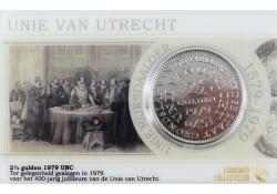 Nederland 1979 2½ gulden Unc Unie van Utrecht in coincard