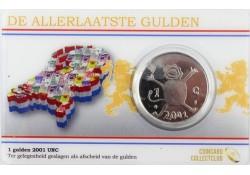 Nederland 2001 De allerlaatste gulden Unc in coincard (leeuwtje)
