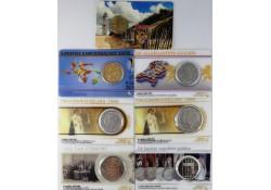 Nederland 1979/2001 6 historische munten in coincard + gratis coincard 10 jaar Zonnemunten