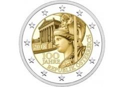 2 Euro Oostenrijk 2018 100 jaar Oostenrijk Unc  Voorverkoop*