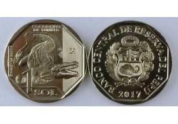 Peru 2017 1 Sol Unc Krokodil