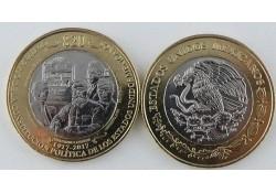 Mexico 2017 20 Pesos Unc Constitutie