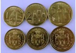 Servië 1 Dinar 2014 + 2 & 5 Dinar 2016 unc