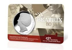 Penning Beatrix 80 jaar in coincard Voorverkoop*