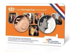 Nederland 2018 5 jaar Koningschap in Coincard Voorverkoop*