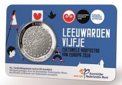 Nederland 2018 5 Euro Leeuwarden Culturele stad van Europa Voorverkoop*