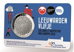 Nederland 2018 5 Euro Leeuwarden Culturele stad van Europa in coincard Unc Voorverkoop*