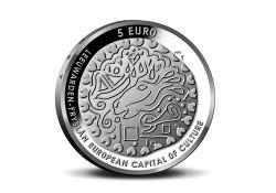 Nederland 2018 5 Euro Leeuwarden Culturele stad van Europa Unc Voorverkoop*