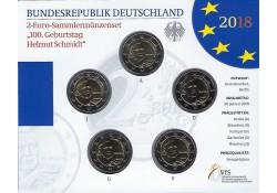 2 Euro Duitsland 2018 ADFG & J Helmut Schmidt Bu
