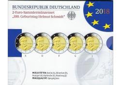 2 Euro Duitsland 2018 ADFG & J Charlottenburg Proof