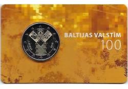 2 Euro Letland 2018 Baltische staten in coincard
