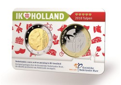 Nederland 2018 Holland coin Fair coincard thema tulpen