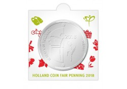 Nederland 2018 Penning Holland coin Fair Tulpen in munthouder.