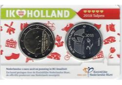 Nederland 2018 Holland coin Fair coincard thema tulpen Met zilveren penning