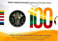 2 Euro Litouwen 2018 Unc Baltische staten Bu in coincard
