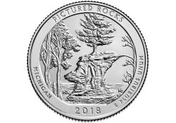 U.S.A ¼ Dollar Pictured Rocks 2018 D UNC