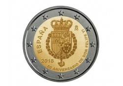 2 Euro Spanje 2018 Don Felipe VI  Unc Voorverkoop*