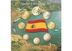 Unc serie Spanje 2008 in blister met penning