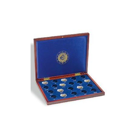 """Leuchtturm Box Volterra de luxe voor 21 munten """"10 jaar Euro"""""""