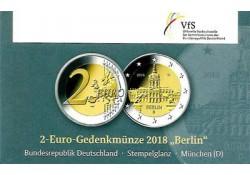 2 Euro Duitsland 2018 D Charlottenburg Berlijn in coincard