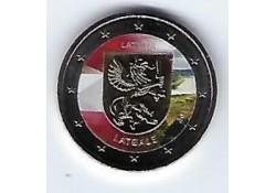 2 Euro Letland 2017 Latgale gekleurd