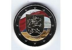 2 Euro Letland 2017 Kurzeme Gekleurd