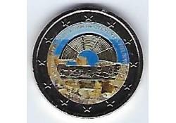 2 Euro Cyprus 2017 Culturele hoofdstad Paphos Gekleurd