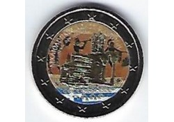 2 euro Griekenland 2017 Archeologische site van Phillippi Gekleurd