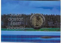 2 Euro Estland 2018 100 jaar republiek Bu in coincard