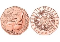 5 euro Oostenrijk 2018 Paashaas Unc