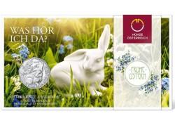 5 Euro Oostenrijk 2018 Paashaas zilver in blister Voorverkoop*