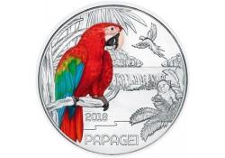 Oostenrijk 2018 3 euro Papagaai Unc