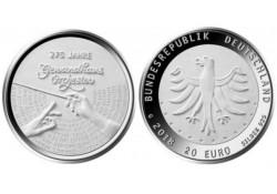 "20 Euro Duitsland 2018 J  ""275 jaar gewandhaus. Orkest"" Unc"