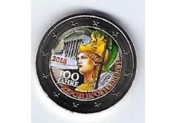 2 Euro Oostenrijk 2018 100 jaar Oostenrijk Gekleurd