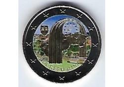 2 Euro Slowakije 2018 25 jaar Slowaakse Republiek Gekleurd